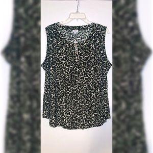 'JONES STUDIO' NWT Women's animal pattern tank top